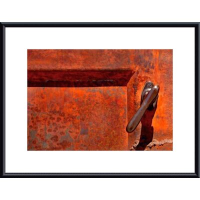 Barewalls Orange Door Handle Metal Framed Art Print