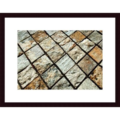Barewalls Diamond Tiles Wood Framed Art Print
