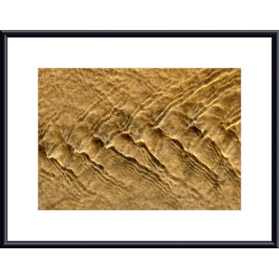 Chevron Ripples Metal Framed Art Print