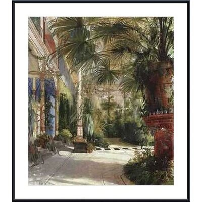 The Palm House by Carl Blechen Metal Framed Art Print