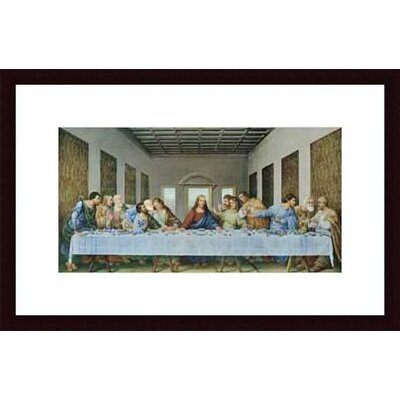 Barewalls The Last Supper by Leonardo da Vinci Wood Framed Art Print