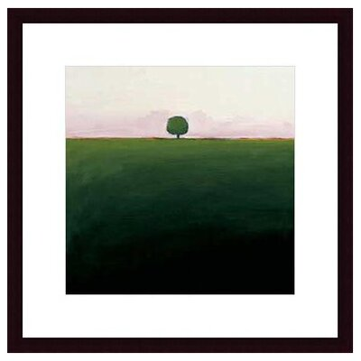 Barewalls One in Green by Ron Rogers Wood Framed Art Print