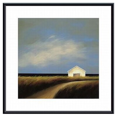 Barewalls Road Past The Barn Metal Framed Art Print