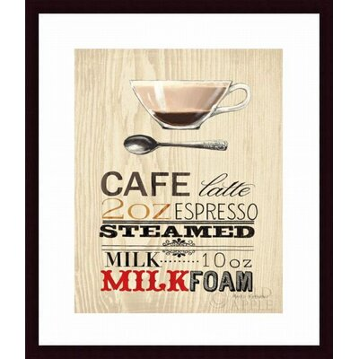 Cafe Latte Framed Art