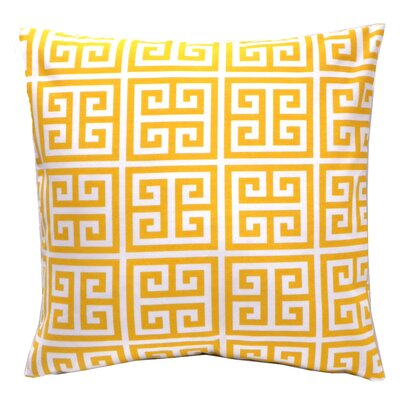 Elisabeth Michael Greek Key Towers Indoor / Outdoor Polyester Pillow