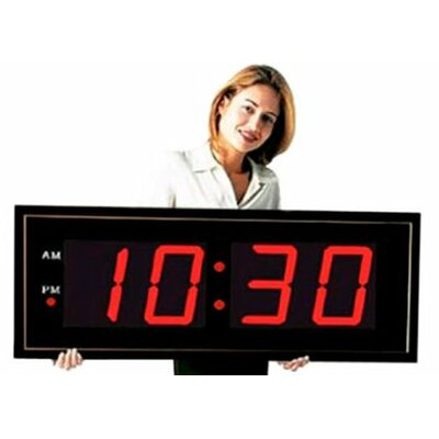 "Big Time Clocks Giant 8"" Numbers LED Digital Clock with Remote"