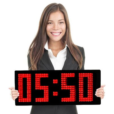 Big Time Clocks Spectacular Unique Digital Wall Clock