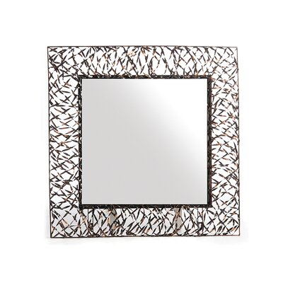 New Rustics Home Woven Accents Woven Square Mirror