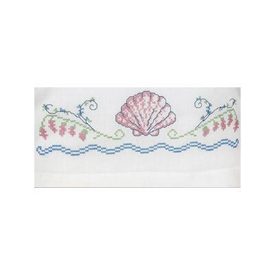 Janlynn XS Pillowcase Seashells Stamped Cross Stitch Pair