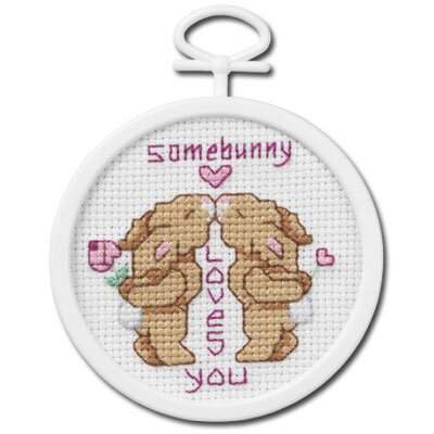 Janlynn Somebunny Loves You Counted Cross Stitch