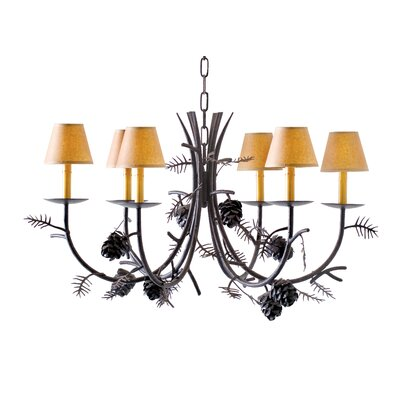 2nd Ave Design Pinecone 8 Light Chandelier