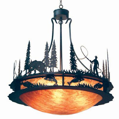 2nd Ave Design Fisherman 6 Light Inverted Pendant