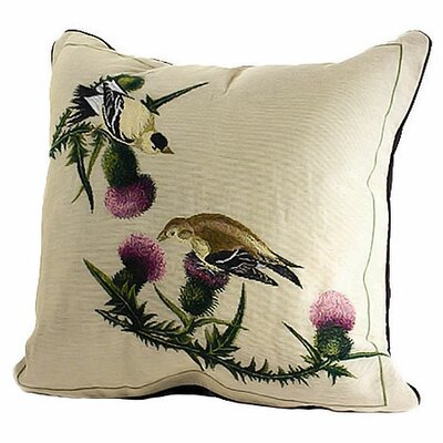 Rennie & Rose Design Group Bird Watchers Goldfinch Pillow