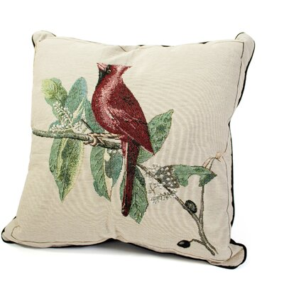 Rennie & Rose Design Group Bird Watchers Cardinal Pillow