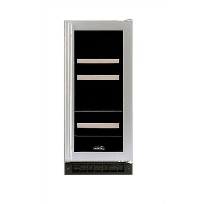 Marvel Appliances Luxury Dual-Zone 60-Can Beverage and 4-Bottle Wine Refrigerator in Stainless Steel