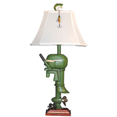Santa's Workshop Boat Motor Table Lamp