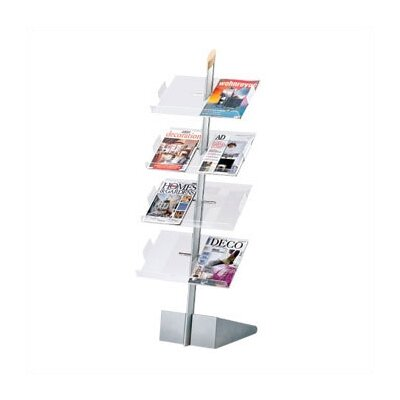 Freestanding Magazine & Literature Rack with 8 Slotted Pockets