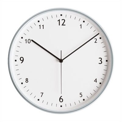 Peter Pepper Round Wall Clock with Aluminum Finish Bezel