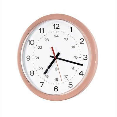 "Peter Pepper 14"" Diameter Wall Clock with Acrylic Cover"