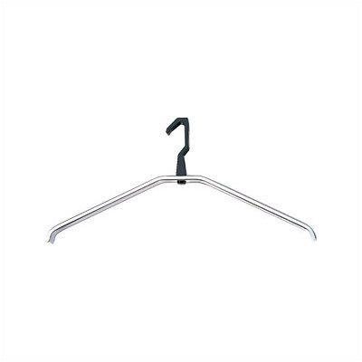 Peter Pepper Self-Aligning Natural Anodized Aluminum Coat Hanger with Black Hook