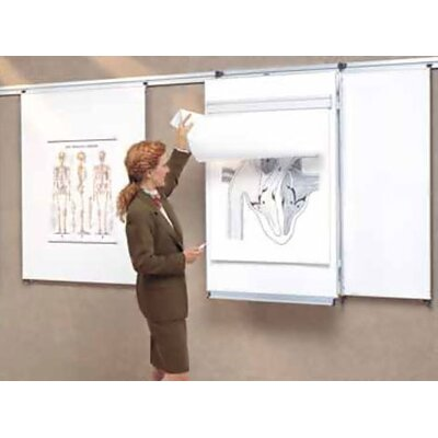Peter Pepper Tactics Plus® Track Mounted Level 2 Flip Chart Assembly with Pen Rail and Pad Holder
