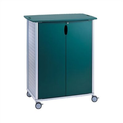 Wheelies® Large AV/ Media Cart with Locking Doors and Two Adjustable Shelves