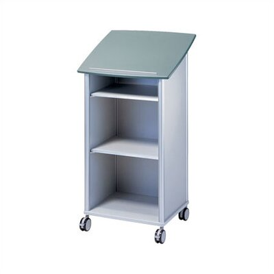 Peter Pepper Wheelies® Lectern with an Open Front and Two Adjustable Shelves
