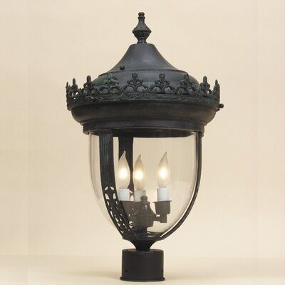 JVI Designs 3 Light Outdoor Post Lantern