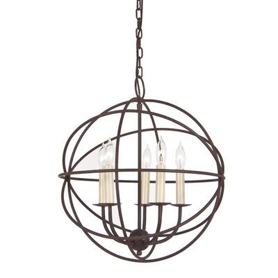 JVI Designs Globe 5 Light Chandelier