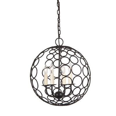 Globe Orbit 4 Light Chandelier