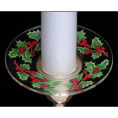 Biedermann and Sons Christmas Holly Design Bobeche Candle Holder (Set of 4)