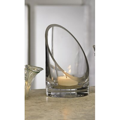 Biedermann and Sons Slanted Glass Candle Holder