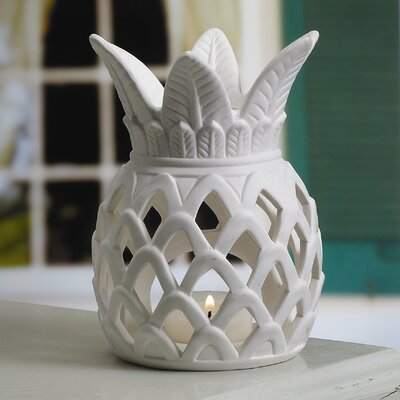 Biedermann and Sons Porcelain Pineapple Tealight Candle Holder