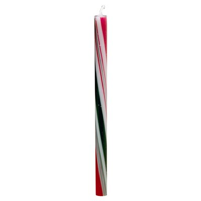 Biedermann and Sons Candycane Taper Candles (Set of 6)