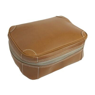 Mulholland Brothers Flat Leather Toiletry Bag