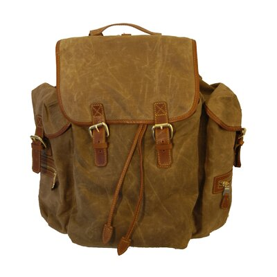 Waxed Canvas Rucksack Bag
