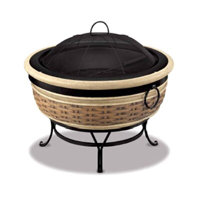 Fireside Escapes Magnesia Rattan Wicker Fire Pit