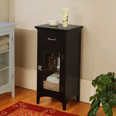 Madison Avenue Dark Floor Cabinet with 1 Door and 1 Drawer