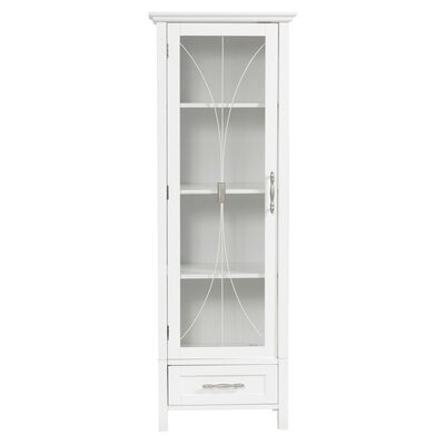 Elegant Home Fashions Mason Linen Cabinet with One Door and One Drawer