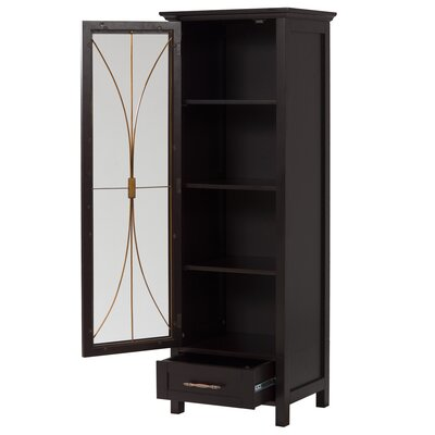 Elegant Home Fashions Delaney Linen Cabinet with Door and Bottom Drawer