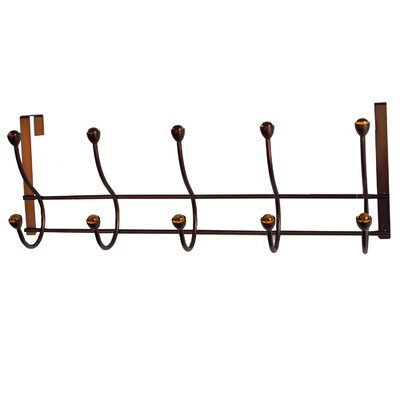 Elegant Home Fashions 5 Hook Over the Door Coat Hanger