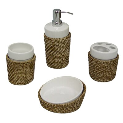 <strong>Elegant Home Fashions</strong> Hana 4-Piece Bath Accessory Set