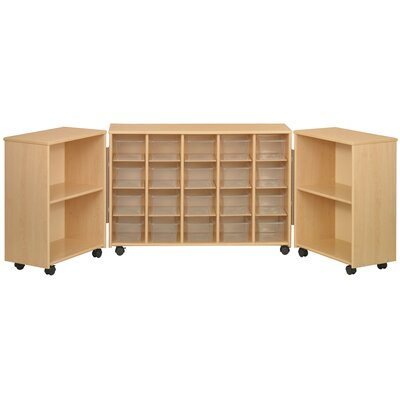 TotMate Eco Laminate Preschool Tri Fold Sectional with Trays