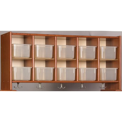TotMate Eco Laminate 10 Cubby Wall Storage with Trays