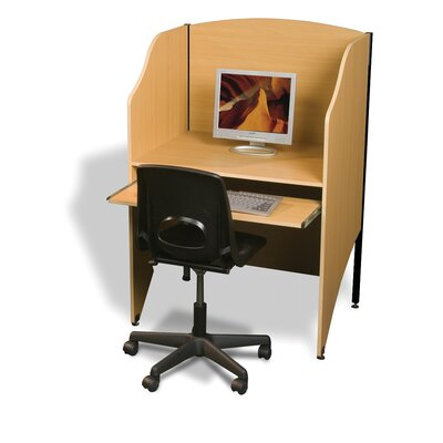 Balt Teak Laminate Deluxe Study Carrel Add On