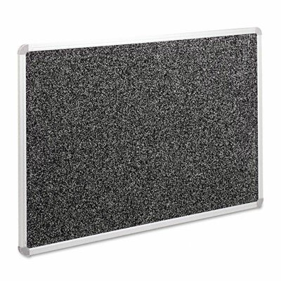 Balt Recycled Rubber-Tak Tackboard, 36 x 24, Black with Silver Frame