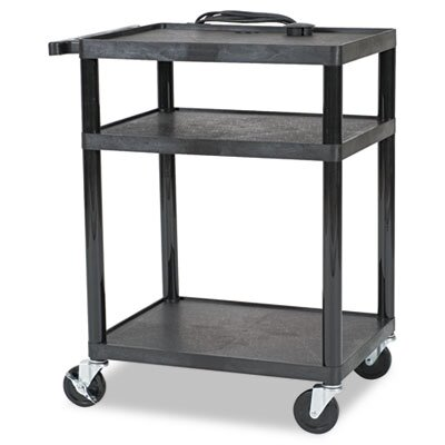 Balt Three Shelf All-Service Cart, 24 x 18 x 16 to 42, Black