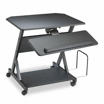 Balt Z-25 Ergonomic Workcenter, 30w x 24d x 30-3/4h, Black Laminate Top