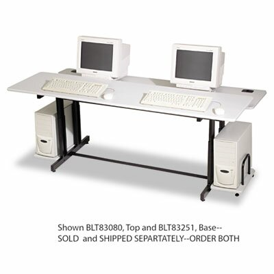 Balt Split-Level Computer Training Table, 72w x 36d x 33h, GY Laminate Top (Box Two)
