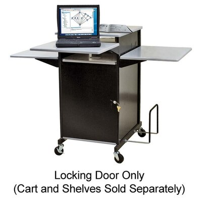 "Balt Locking Door, f/ Presentation Cart, 18""x1/2""x39"", Black"